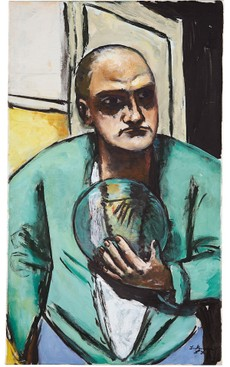 Max Beckmann: Selbstbildnis mit Glaskugel, 1936, Hilti Art Foundation, (© Prolitteris)
